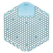 Wave 3D Urinal Deodorizer Screen, Blue, Ocean Mist Fragrance, 10 Screens/Box