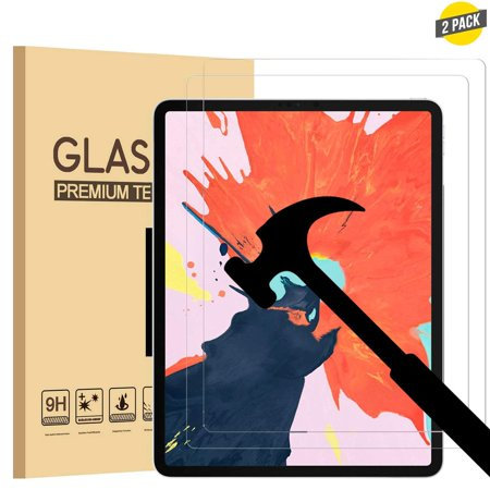 Id Screen - [2 Pack] EpicGadget Screen Protector for New iPad Pro 11 (2018 Release), Tempered Glass Screen Protector with Apple Pencil and Face ID Compatible/High Definition/Scratch Resistant/Bubble Free