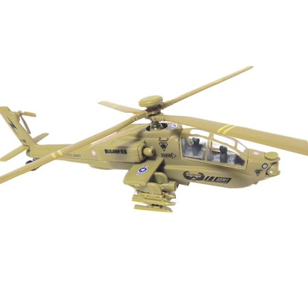 Black Hawk Helicopter Tan Military Attack Helicopter Cast Metal Toy (The Best Attack Helicopter In The World)