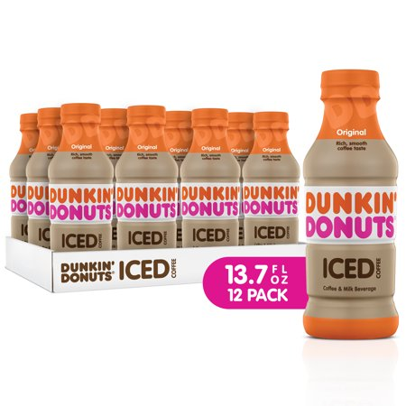 Dunkin' Donuts Iced Coffee, Original, 13.7 Fl Oz, 12