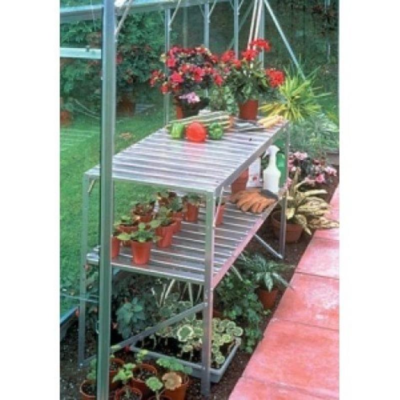 Portable 2 Tier Aluminum Greenhouse Shelves, Made With Du...