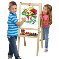 Cra-Z-Art 3-in-1 Wood Art Easel With Chalkboard, Dry Erase, & Storage