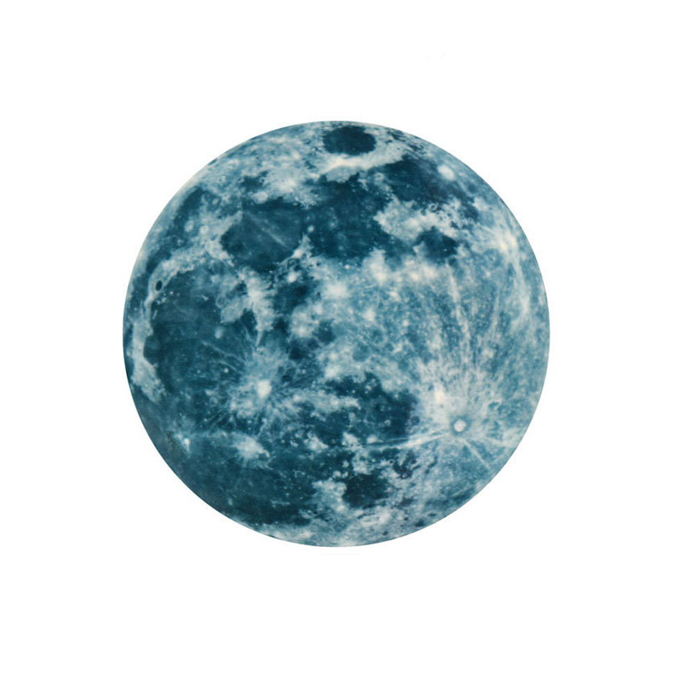 20cm 3D Large Moon Fluorescent Wall Sticker Removable Glow In The Dark Sticker