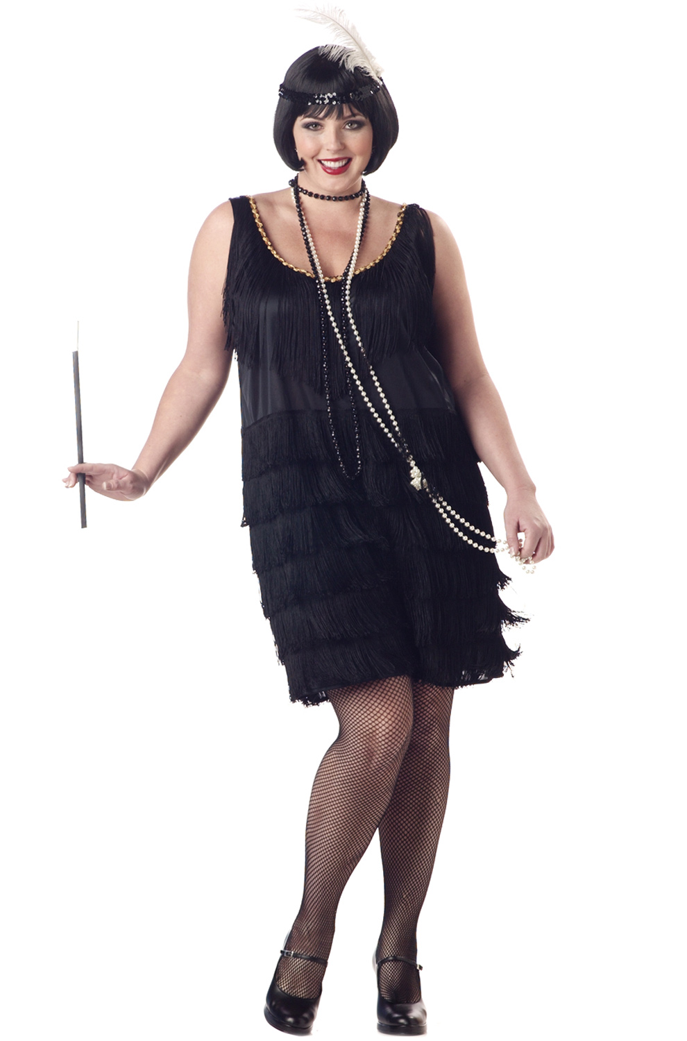 Theater costumes plus size 1920s day dress