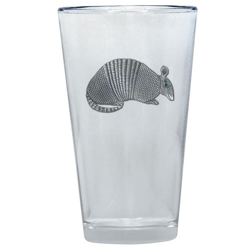 Armadillo Pint Glass by Heritage Metalworks