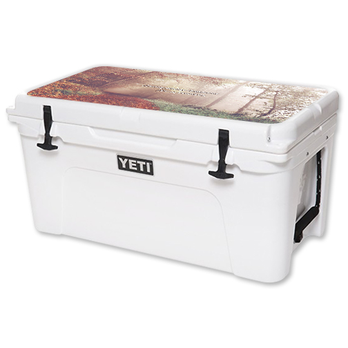 MightySkins Protective Vinyl Skin Decal for YETI Tundra 65 qt Cooler Lid wrap cover sticker skins Happens For A Reason