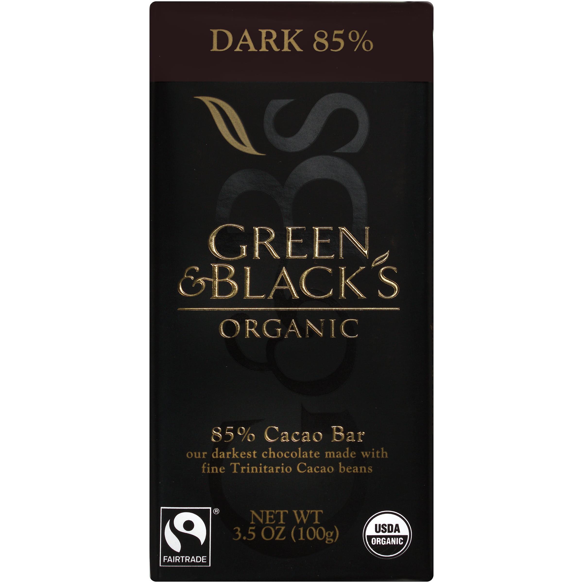 Green and Black's Organic Dark 85% Dark Chocolate, 3.5 OZ ...