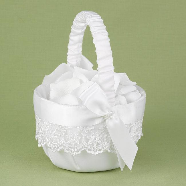 Lace Allure Wedding Flower Girl Basket