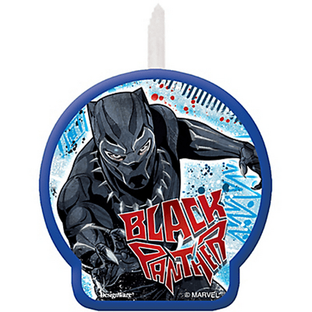 Black Panther Cake Candle (1ct)](Long Candles For Cake)