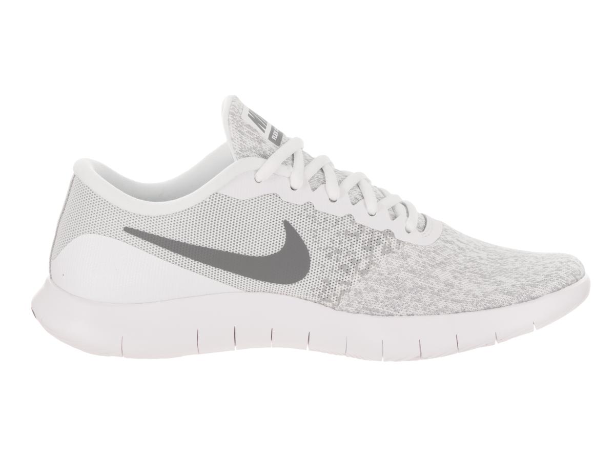 nike donne flex contatto bianco / cool grey scarpa da corsa, 9 donne noi