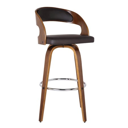 "Hawthorne Collections 26"" Faux Leather Counter Stool in Brown"