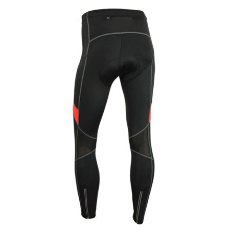Men's Cycling Bike Pants 3D Gel Padded Bicycle Compression Tights Breathable Thermal Fleece Bike Riding Long Pants Trousers - image 5 de 7