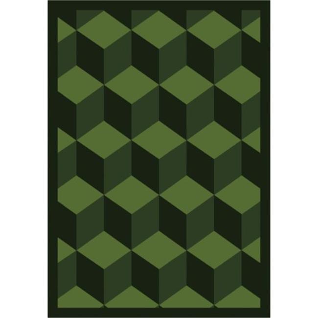 """Joy Carpets Kaleidoscope - Whimsical Area Rugs Highrise, 3'10"""" x 5'4"""", Emerald"""