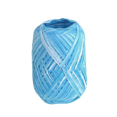 Paper Raffia Rolls, Two-tone, 18mm, 100 Yards, Turquoise