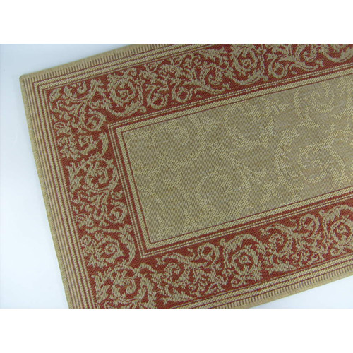 American Mills Entwined Honey/Terracotta Indoor/Outdoor Area Rug