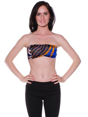 Emmalise Junior Women's Sexy Summer Pool Beach Printed Tube Top -