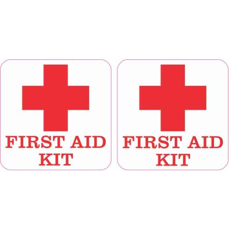 2.5in x 2.5in First Aid Kit Stickers (Spill Kit Sticker)