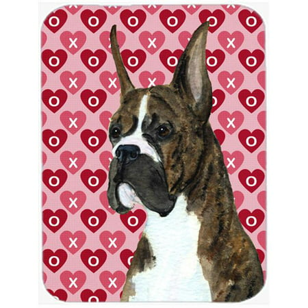 Carolines Treasures SS4508LCB Boxer Hearts Love & Valentines Day Portrait Glass Cutting Board, Large - image 1 of 1