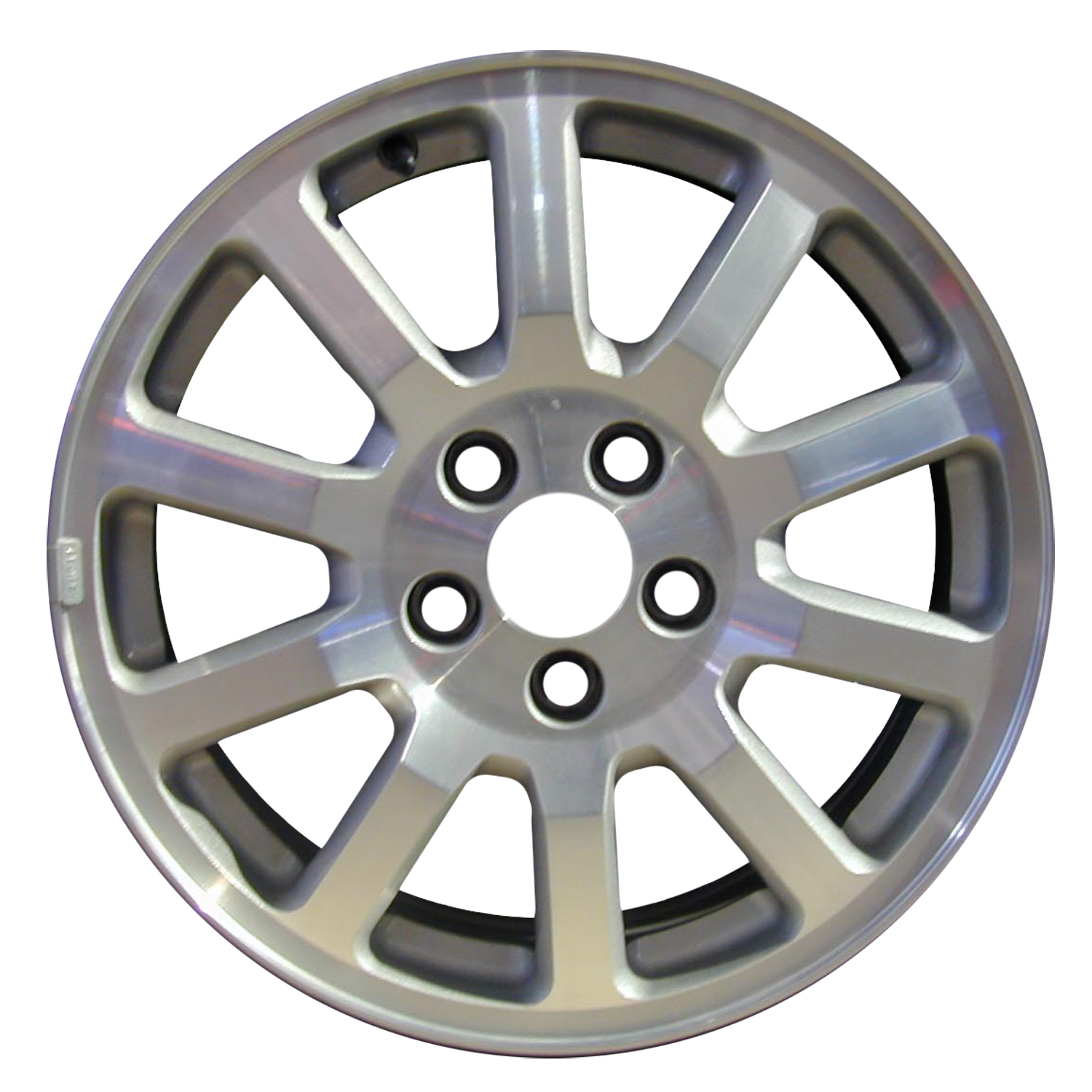 2005-2007 Buick Rendezvous  17x6.5 Alloy Wheel, Rim Sparkle Silver Textured with Machined Face - 4063