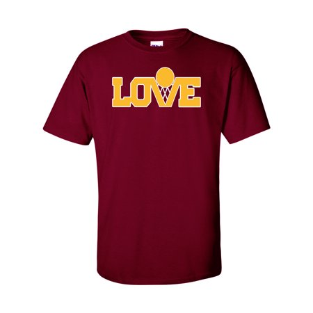 best service 1e78c 3936a Maroon Cleveland Cavaliers Kevin Love Love Logo Adult Large T-Shirt