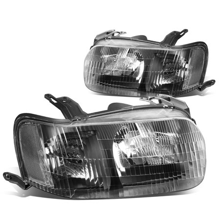 For 2001 to 2004 Ford Escape Headlight Black Housing Clear Corner Headlamp 02 03 (2001 01 Ford Escape)