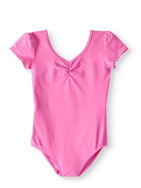 Danskin Now Girls' Short Sleeve Premium Dance Leotard