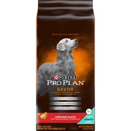 Purina Pro Plan With Probiotics Senior Dry Dog Food, SAVOR Shredded Blend Chicken & Rice Formula - 6 lb.