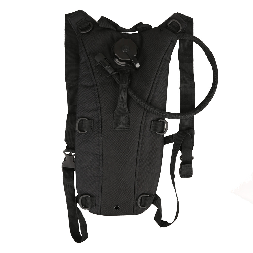 3L Hydration Outdoor Tactical Water Bag Pouch Backpack with Bladder Black by