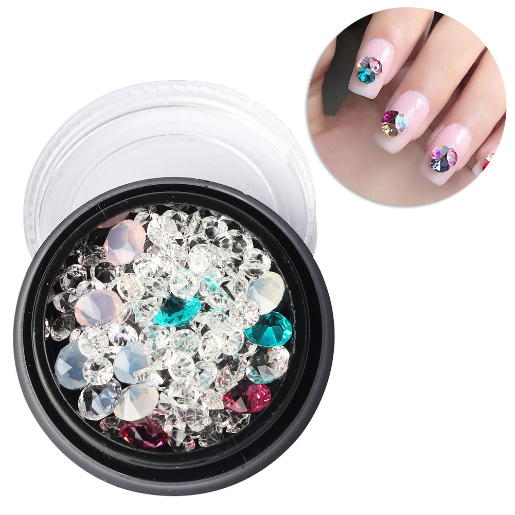 3D Nail Art Rhinestones Glitters Studs Acrylic Tips Decoration Manicure Wheel Multicolour