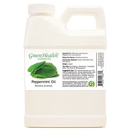 - GreenHealth - Peppermint Essential Oil 100% Pure, Uncut, 16 fl oz