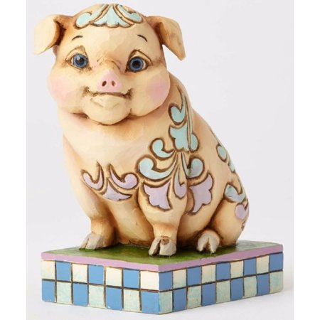 Jim Shore Heartwood Creek What The Pig Idea Pint Sized Lazy Pig Figurine - Heartwood Creek Halloween