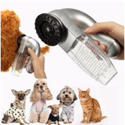 Dog Cat Puppy Pet Electrical Hair Fur Remover Shedding Grooming Brush Comb Vacuum Cleaner Trimmer Machine