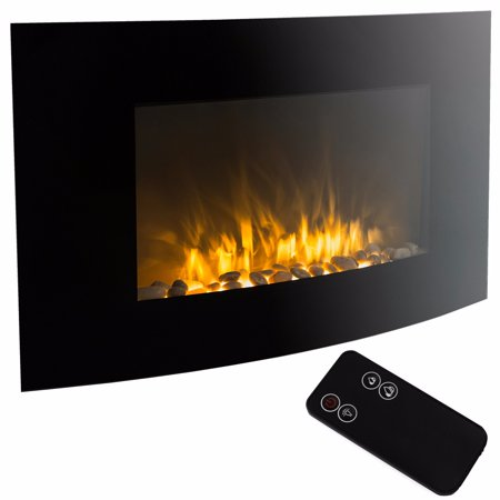 Stupendous 35 Electric Fireplace 1500W Heat Adjustable Electric Wall Mount Heater With Remote Download Free Architecture Designs Aeocymadebymaigaardcom