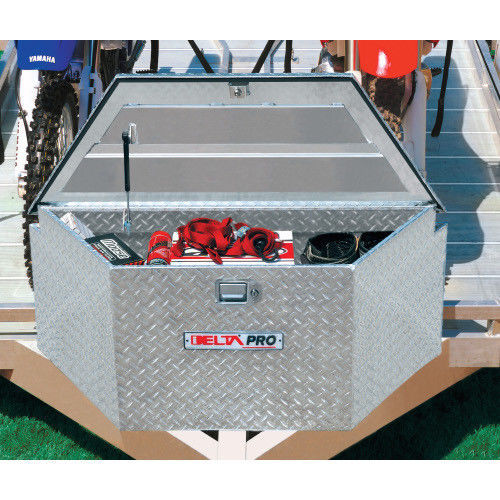 JOBOX 415000D 33 in. Long Aluminum Trailer Tongue Box - Bright