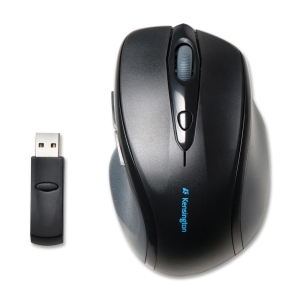 Kensington Pro Fit K72370US Mouse - Optical - Wireless - Radio Frequency - Black - Retail - USB - 1200 dpi - Scroll Wheel - Right-handed Only MOUSE 2.4G