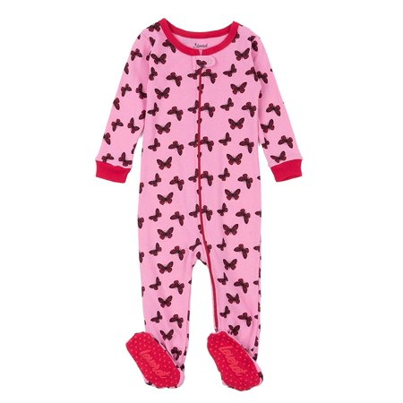 Leveret Kids Pajamas Baby Boys Girls Footed Pajamas Sleeper 100% Cotton (Butterfly, Size 4 Toddler) - Butterfly Pajamas