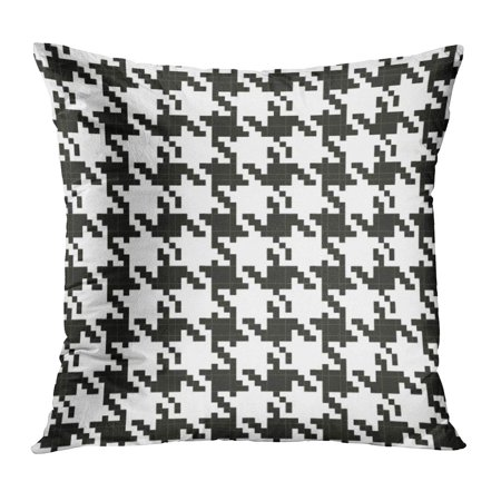 ECCOT Chanel Pattern Cool Tweed Coco Black Abstract Pillow Case Pillow Cover 16x16 inch ()