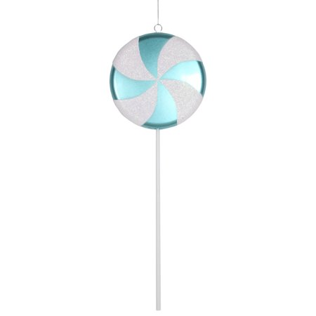 Large Teal and White Twist Candy Lollipop Christmas Ornament Decorations 24
