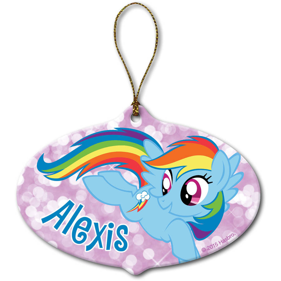 Personalized My Little Pony Rainbow Dash Ornament