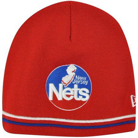 Products New Jersey Nets - NBA New Jersey Nets New Era Knit Beanie Winter Cuffless Toque Red Skully Skull
