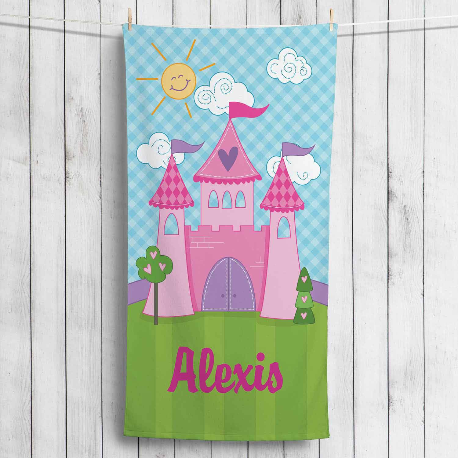 Personalized Princess Castle Towel