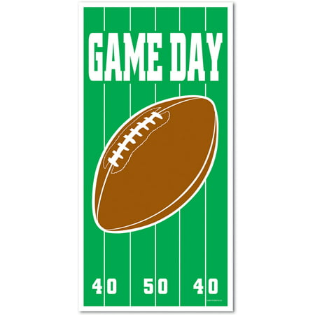 Game Day Superbowl Football Front Door Cover Halloween Decor Decoration (Halloween Dark Games)