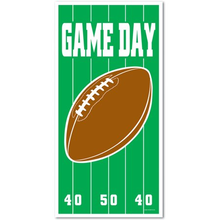 Game Day Superbowl Football Front Door Cover Halloween Decor Decoration (Halloween Small Group Games)