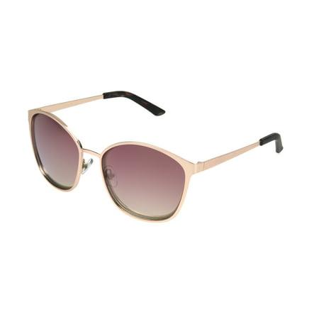 7f9409bf5 Foster Grant - Foster Grant Women's Rose Gold Mirrored Round Sunglasses L12  - Walmart.com