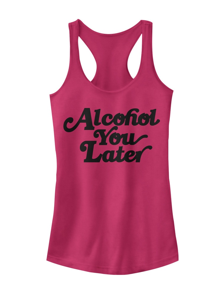 Chin Up Juniors' Alcohol You Later Racerback Tank Top