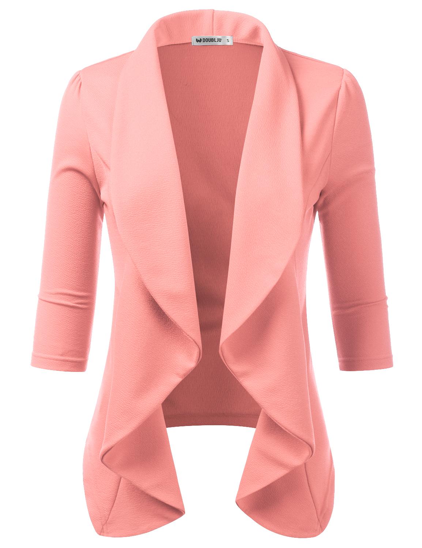 b1fe6334ce82 Doublju - Doublju Women s Short Sleeve Cardigan Lightweight Thin ...