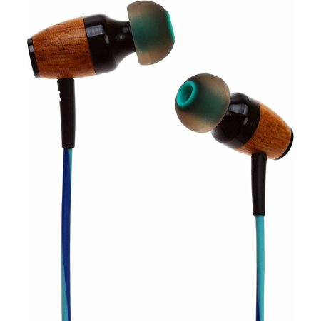 b117c198ae6a6e Symphonized DRM Premium Genuine Wood In-Ear Noise-Isolating Headphones with  Mic - Walmart.com