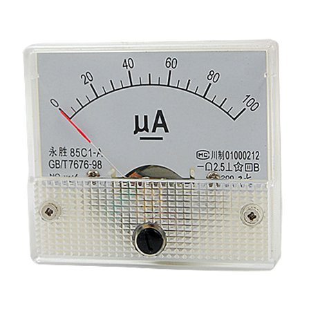 Unique Bargains 85C1-A DC 0-100uA Analog Panel Meter Ammeter Gauge (Analog Amp Panel Meter)