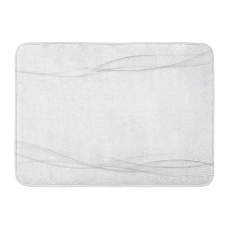 Silver Wave Mat (SIDONKU Silver Graphic Grey Swoosh Wave Abstract Stream Line Modern Certificate White Doormat Floor Rug Bath Mat 23.6x15.7 inch)