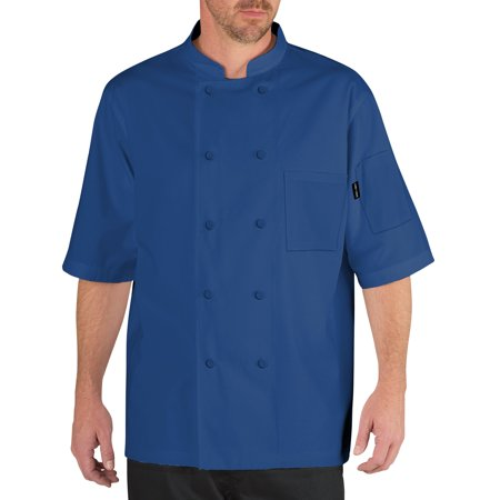 Chef Code Cool Breeze Chef Coat with Short-Sleeves and Mesh Vent Inlay CC105 (Chefs Coat)